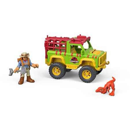 Imaginext Jurassic World Dr. Grant & Dinosaur Figure 4x4 Vehicle (World Of Nintendo Skull Kid 4 Inch)