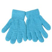 Women Blue Solid Color Butter Gloves