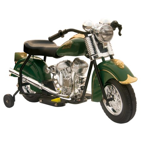 Little Vintage Indian Motorcycle Ride-On, Green