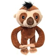 """Fingerlings Baby Sloth Brown 10"""" Plush with Sound"""