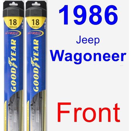 - 1986 Jeep Wagoneer Wiper Blade Set/Kit (Front) (2 Blades) - Hybrid