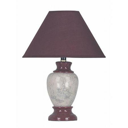 Burgundy Traditional Table Lamp - Ceramic Table Lamp - Burgundy