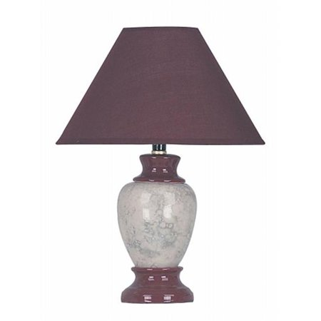 Ceramic Table Lamp - Burgundy - image 1 of 1