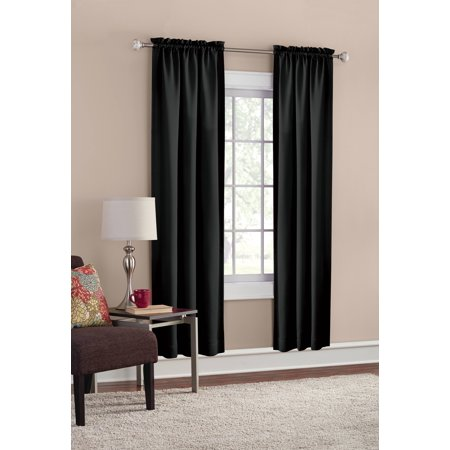 Mainstays Room Darkening Solid Woven Curtain Panel Pair ()