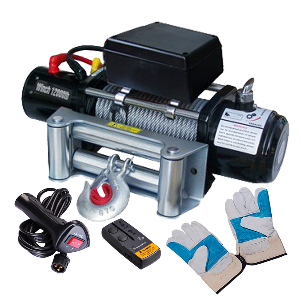 Yescom 12000 lb 12V 6.6 Recovery Winch Wireless Remote fo...
