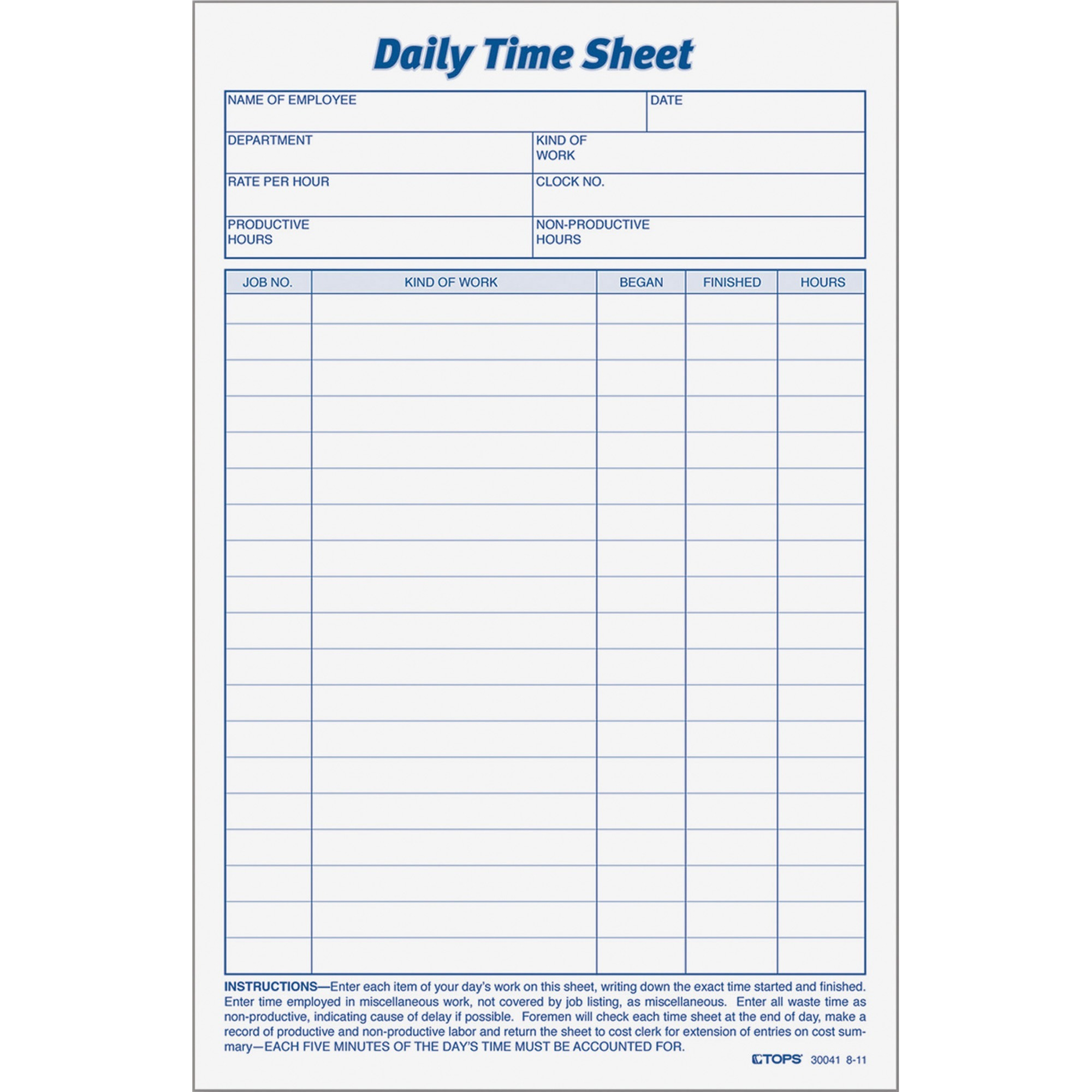 photo relating to Daily Sheet referred to as TOPS, Best30041, Each day Year Sheet Style, 2 / Pack, White