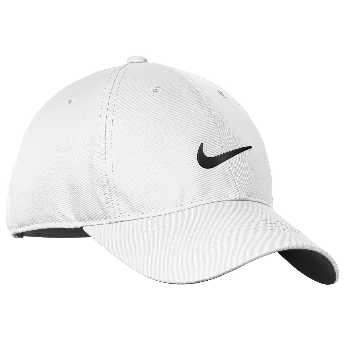 NEW Nike Golf Tech Swoosh Dri-Fit Unstructured White Black Hat Cap -  Walmart.com 29808413fdc