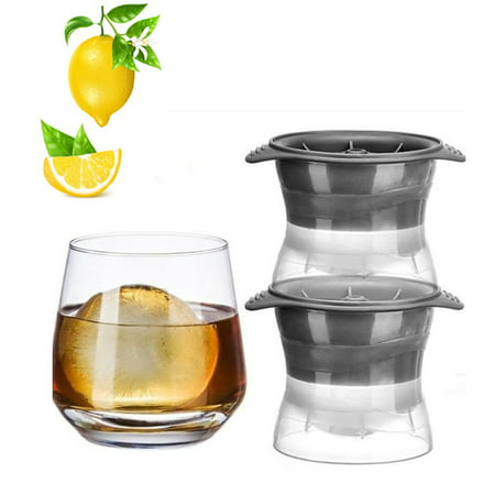 Vina 2.5 inch Sphere Ice Molds Large Ice Ball Maker for Slow-melting Beverage Chillers (2pcs in 1 Box)