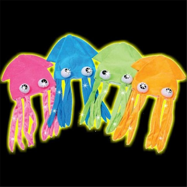 Gloworks Flashing Squid Hat, Assorted Color - Pack of 12
