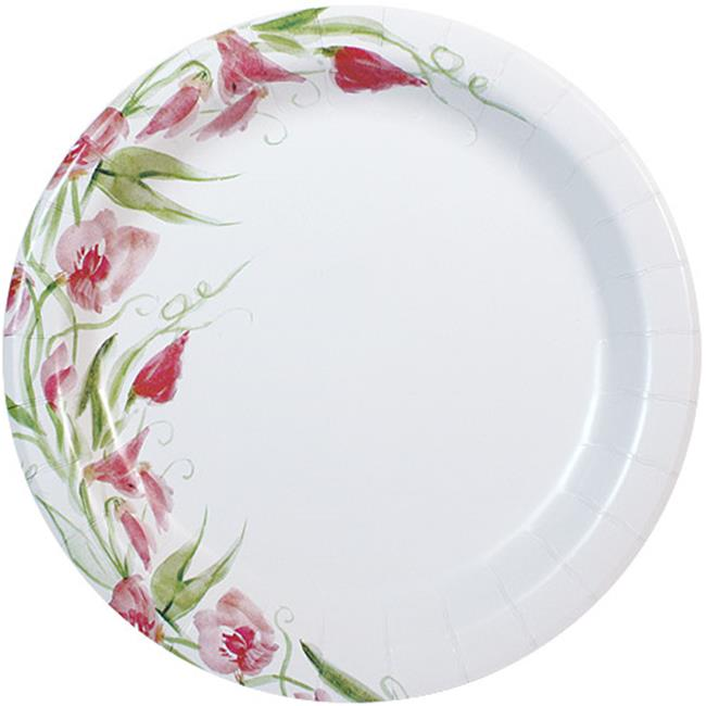 Nicole Home Collection 77010 10. 25 inch Paper Plate Floral - 288 Per Case