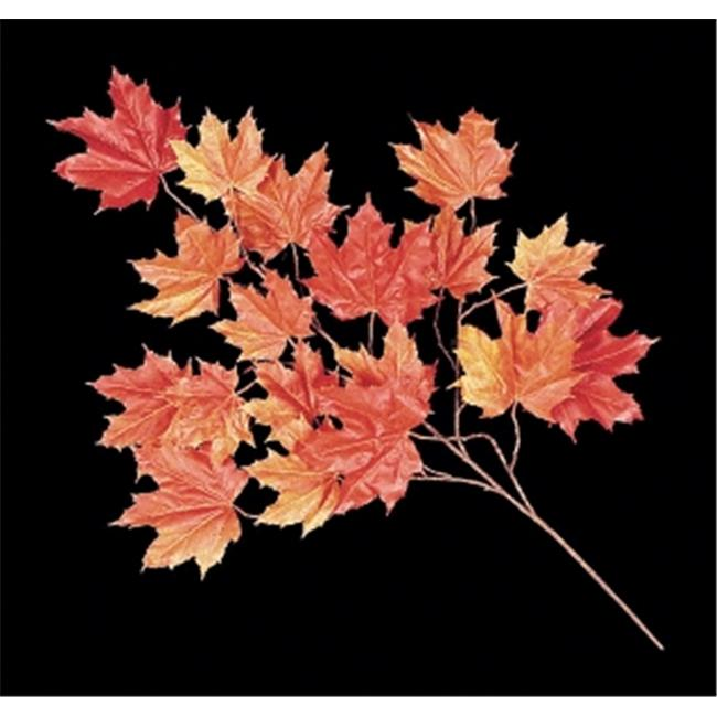 Autograph Foliages PR-005RO 33 in. Fire Retardant Sugar Maple Branch