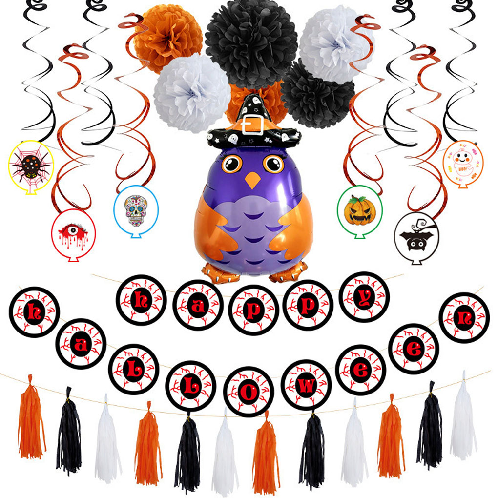 fashionhome Halloween Aluminum Balloon Party Decorations Owl Wizard Inflatable Toys Halloween Party Supplies
