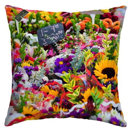 Arden Selections Flower Market 16 X 16 In Outdoor Toss Pillow