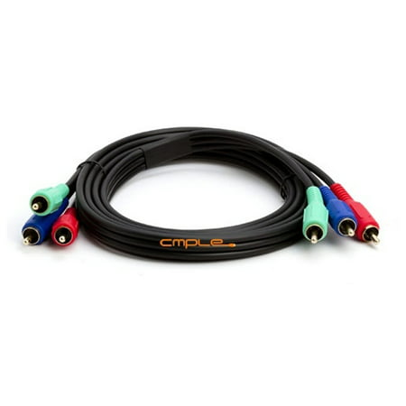 Cmple Component Video Cable 3-RCA Gold HDTV RGB YPbPr - 6 FT ()