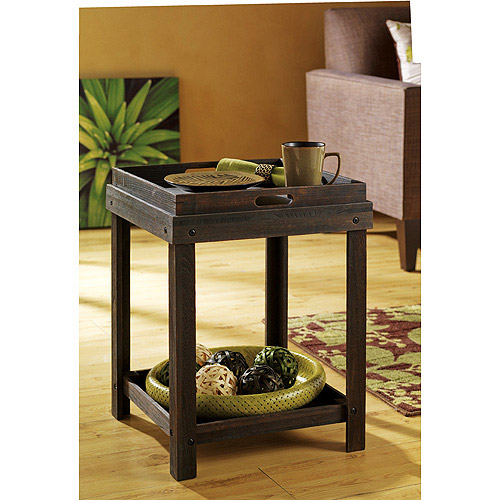 Hometrends Welgrove Side Table with Removeable Tray