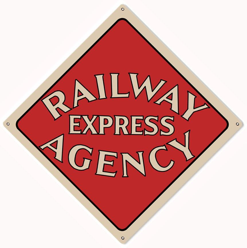 "Railway Express Agency Railroad Sign 12""x12""  CSRG7134"