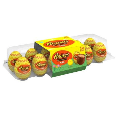 Reese's, Easter Peanut Butter Creme Eggs Candy, 12 Count, 14.4 - Halloween Treats With Peanut Butter Cups
