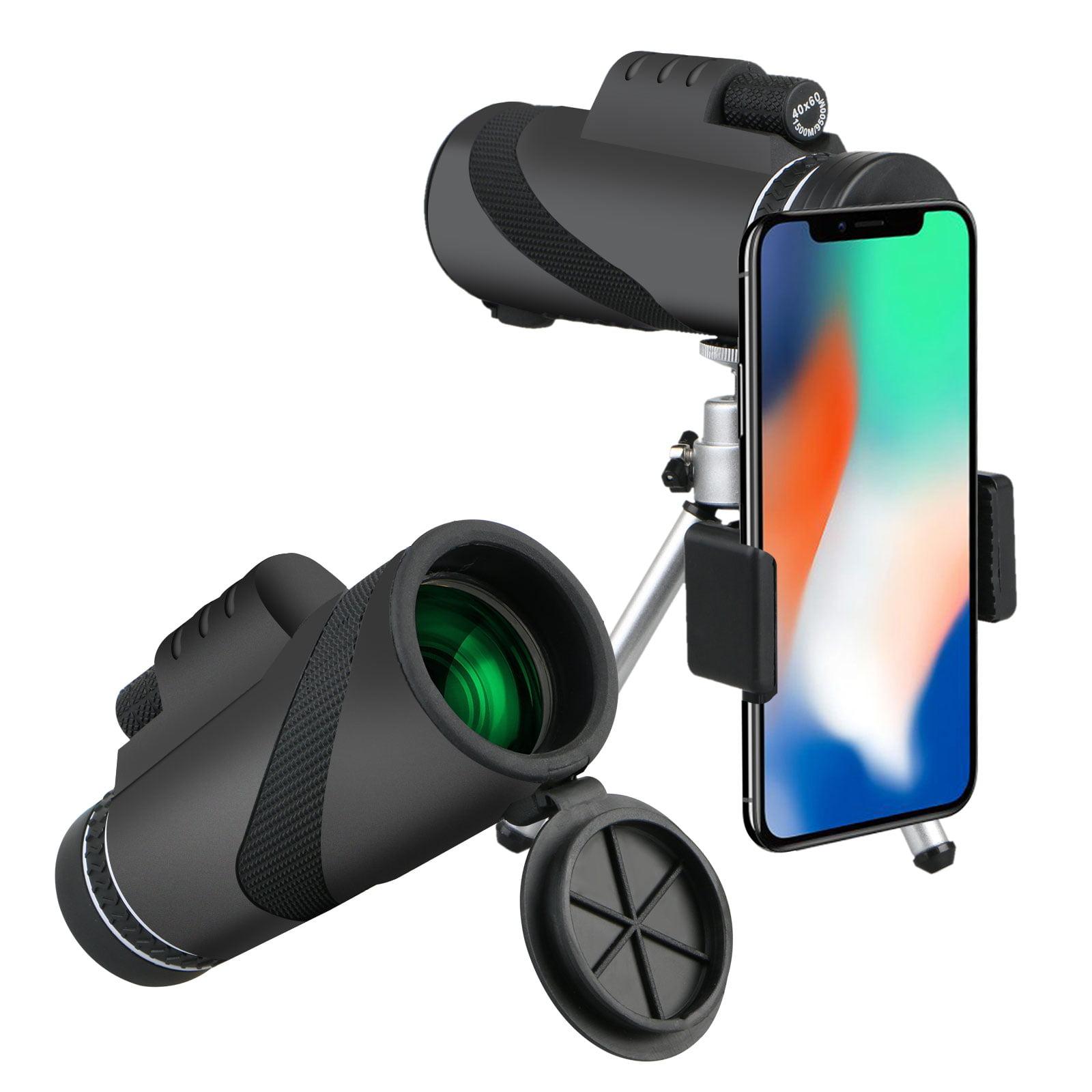 40x60 High Power Prism Monocular and Quick Smartphone Holder, Waterproof Fogproof Shockproof Scope, BAK4 Prism FMC for... by EEEKit
