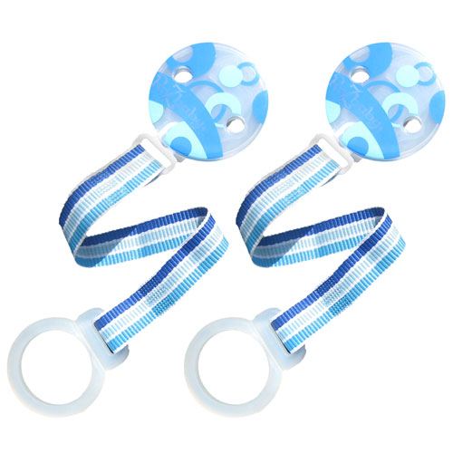 RazBaby - Keep-It-Kleen Pacifier Holder Set of 2, Blue