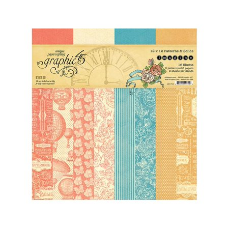 Graphic 45 Imagine Paper Pad 12x12 Solid/Ptrn
