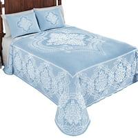Jules Elegant Woven Jacquard Floral Bedspread Coverlet