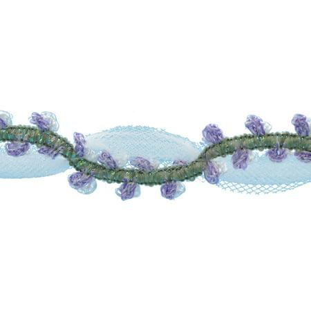 """Deco Trims Rose Tulle Trim 3/4""""X3ft-Lilac - image 1 de 1"""