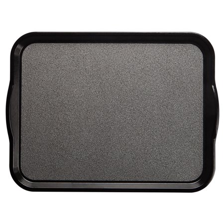 Cambro Versa Camtray? Pebbled Black Fiberglass Nonskid Tray with Handles - 20