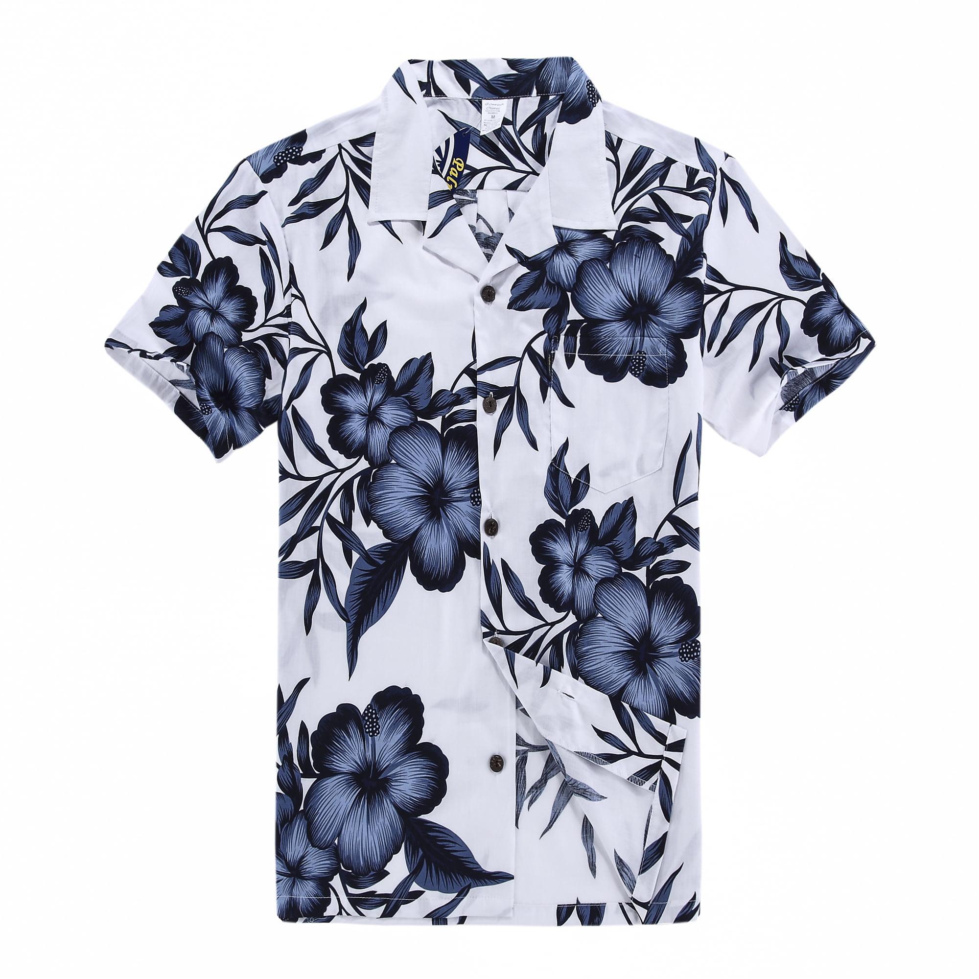 Hawaii Hangover - Hawaiian Shirt Aloha Shirt in White Floral - Walmart.com