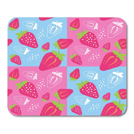 KDAGR Abstract Fruit ¡é Strawberry Agriculture Antioxidant Collection Cross Cut Mousepad Mouse Pad Mouse Mat 9x10 inch
