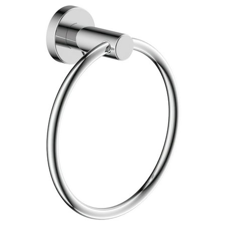 Dia Wall-Mounted Towel Ring in Polished Chrome