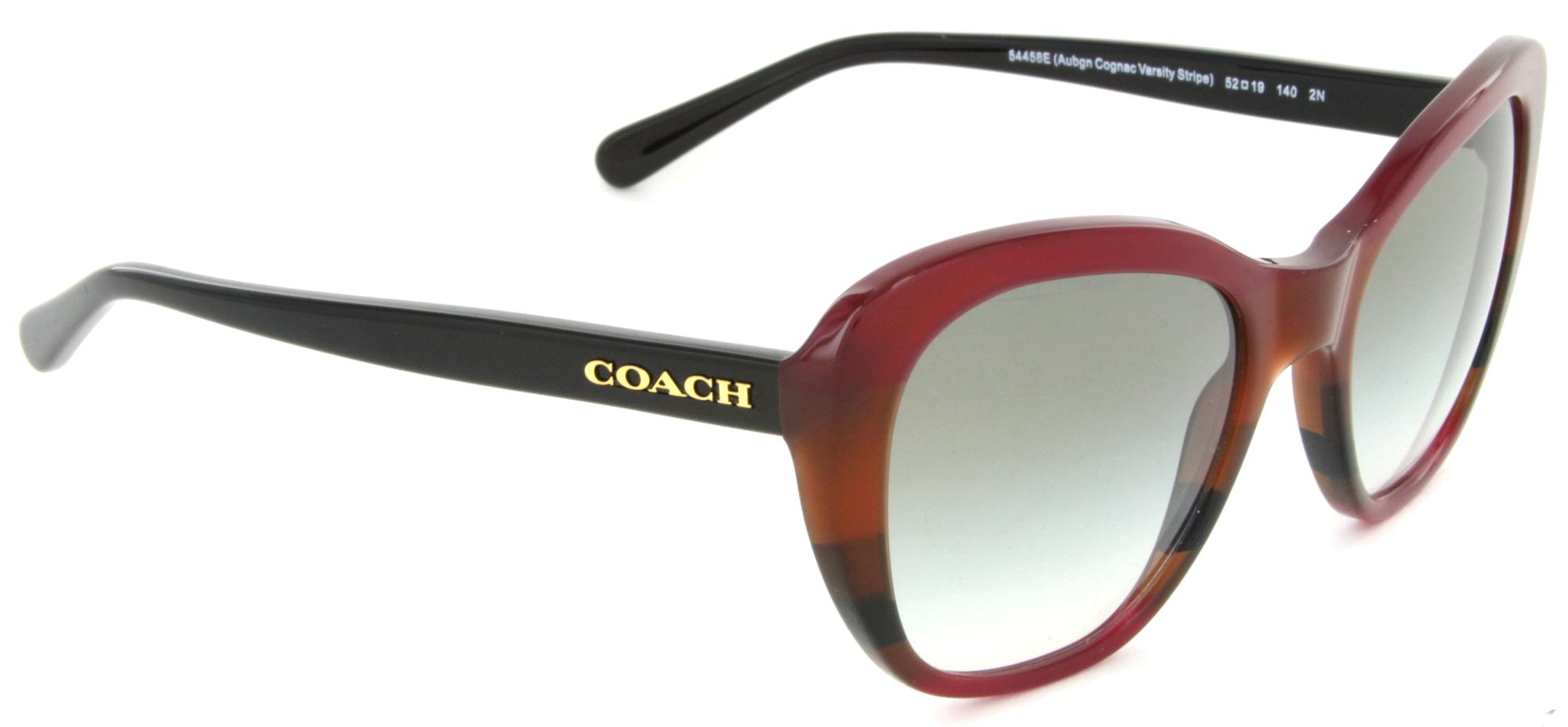 dc14e7f4ec37 Coach - Coach HC8204 54458E Cat Eye Sunglasses Aubgn Cognac Varsity Stripe/Green  Gradient Lens - Walmart.com