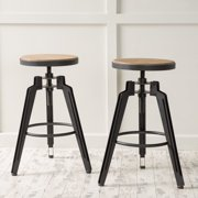 Christopher Knight Home Isla 25-inch Adjustable Rustic Wood Bar Stool (Set of 2) by by Overstock