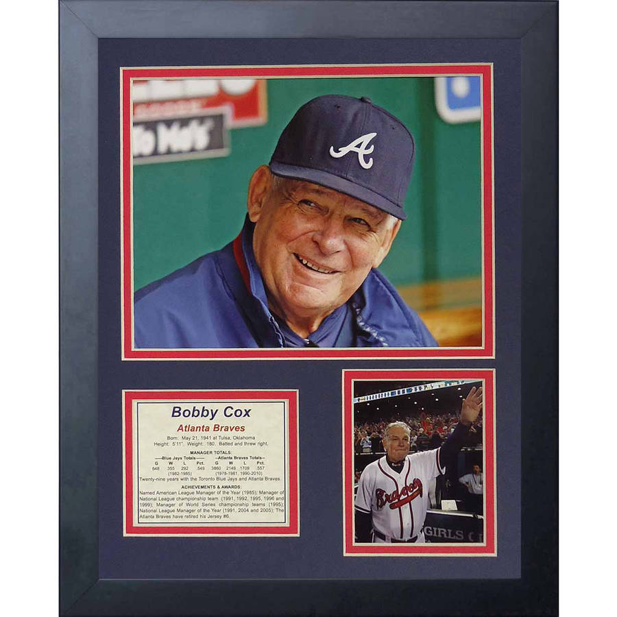 "Legends Never Die ""Bobby Cox"" Framed Photo Collage, 11"" x 14"""