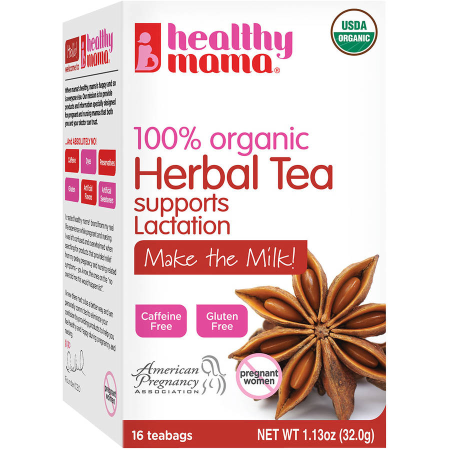 Healthy Mama Make the Milk! 100% Organic Herbal Tea, 16 count, 1.13 oz