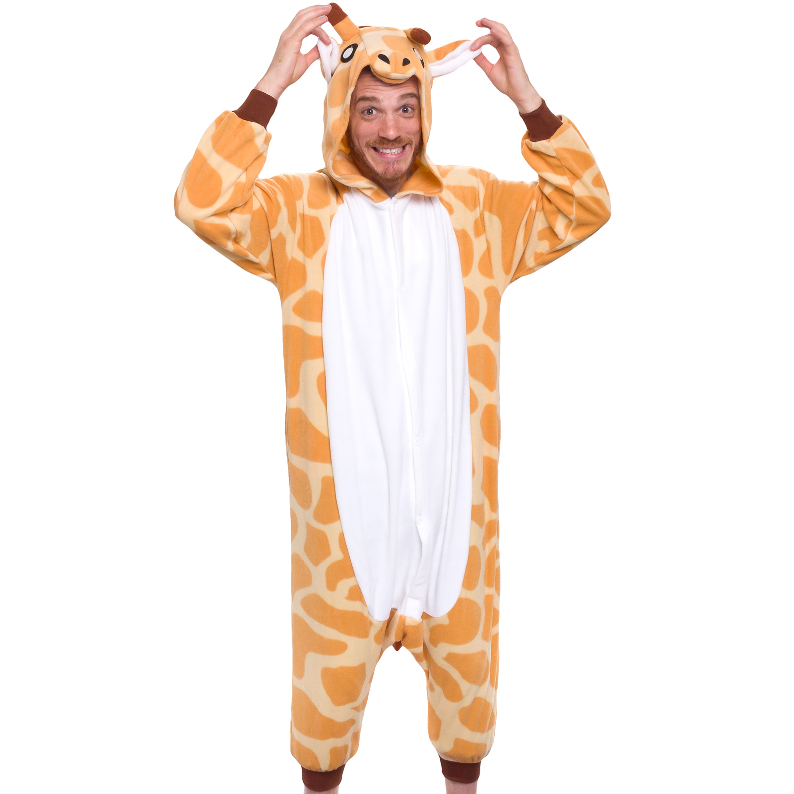SILVER LILLY Unisex Adult Plush Animal Cosplay Costume Pajamas (Giraffe)