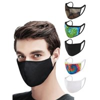 Multi-Pack Reusable Washable Earloop Cotton Fabric 2-Ply Mask