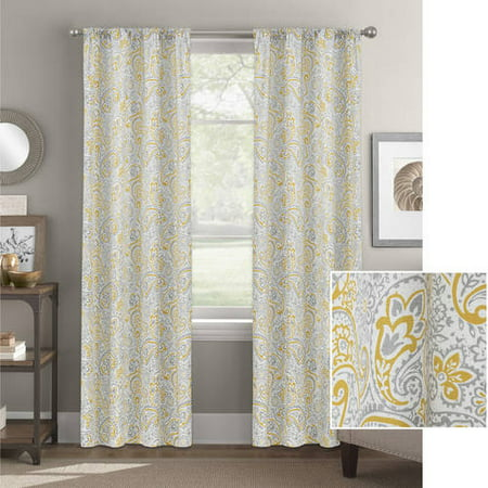 Better Homes and Gardens Scalloped Paisley Curtain -