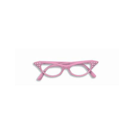 50'S RHINESTONE GLASSES-PINK (50's Girl Costume Accessories)