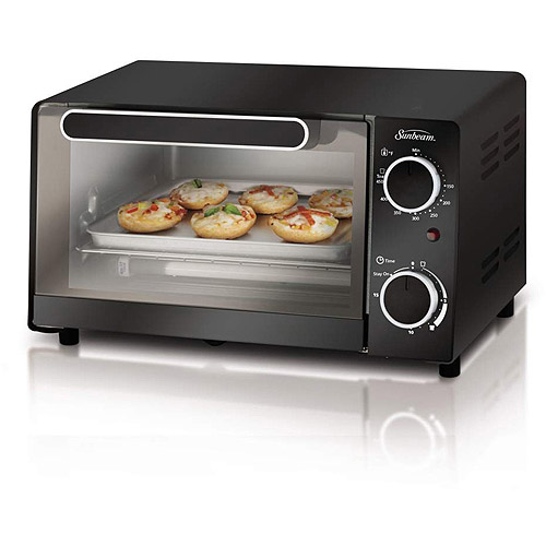 Sunbeam 4-Slice Toaster Oven, Black