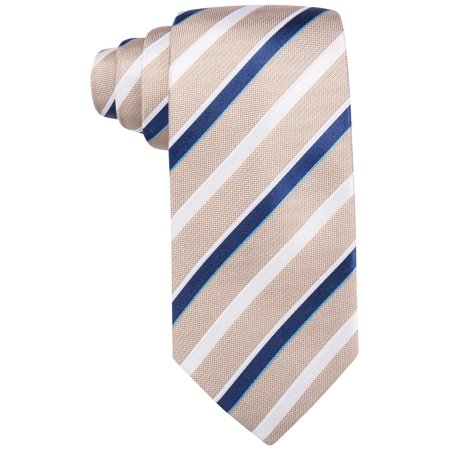 Countess Mara Mens Striped Necktie taupe One Size - Mens Taupe Stripe
