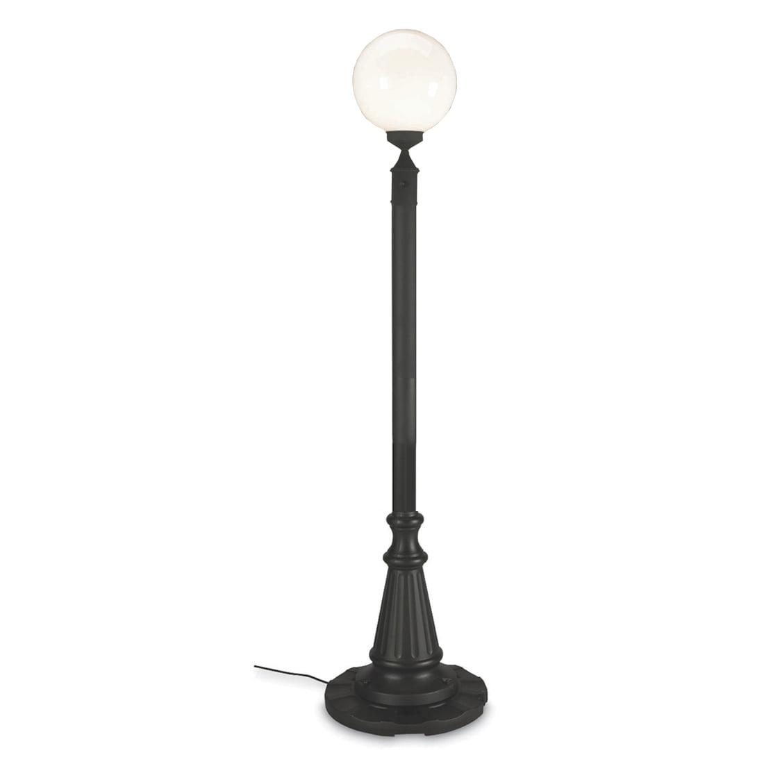 Patio Living Concepts European 00330 85 Inch Single White Globe Lantern Patio Lamp by Patio Living Concepts