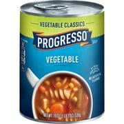 (4 pack) Progresso Soup, Vegetable Classics, Vegetable Soup, 19 oz Can