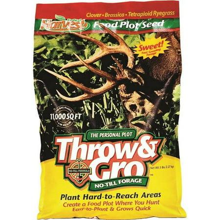 Evolved Habitats 1510437 Harvest Throw & Gro No Till Forage Food Plot Seed, 5 lbs
