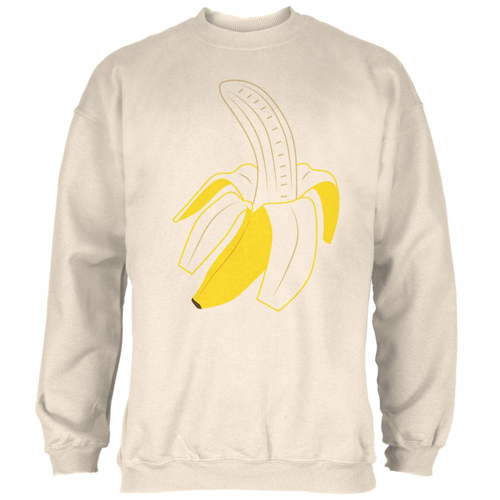 Halloween Fruit Peeled Banana Costume Mens Sweatshirt