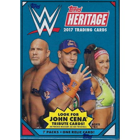 - 2017 Topps WWE Heritage Wrestling New Trading Cards Retail 64ct. Blaster Box