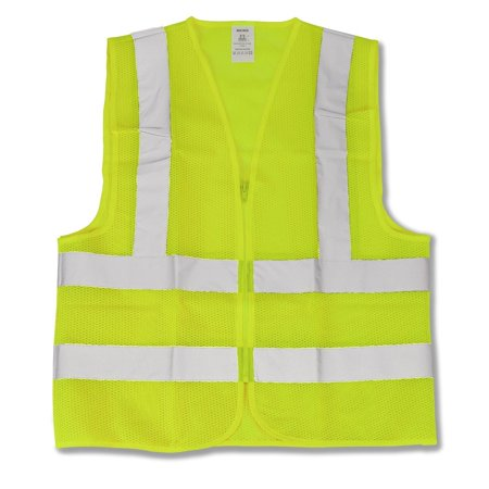 Neiko 53941A Neon Yellow ANSI Approved Safety Vest Large ()