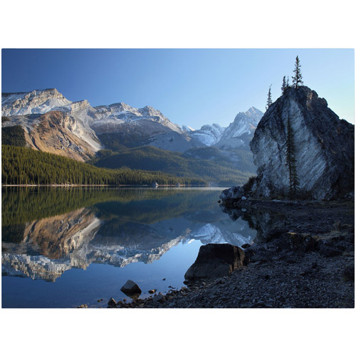 "Trademark Fine Art ""Jasper Maligne Lake"" Canvas Art by Pierre Leclerc"