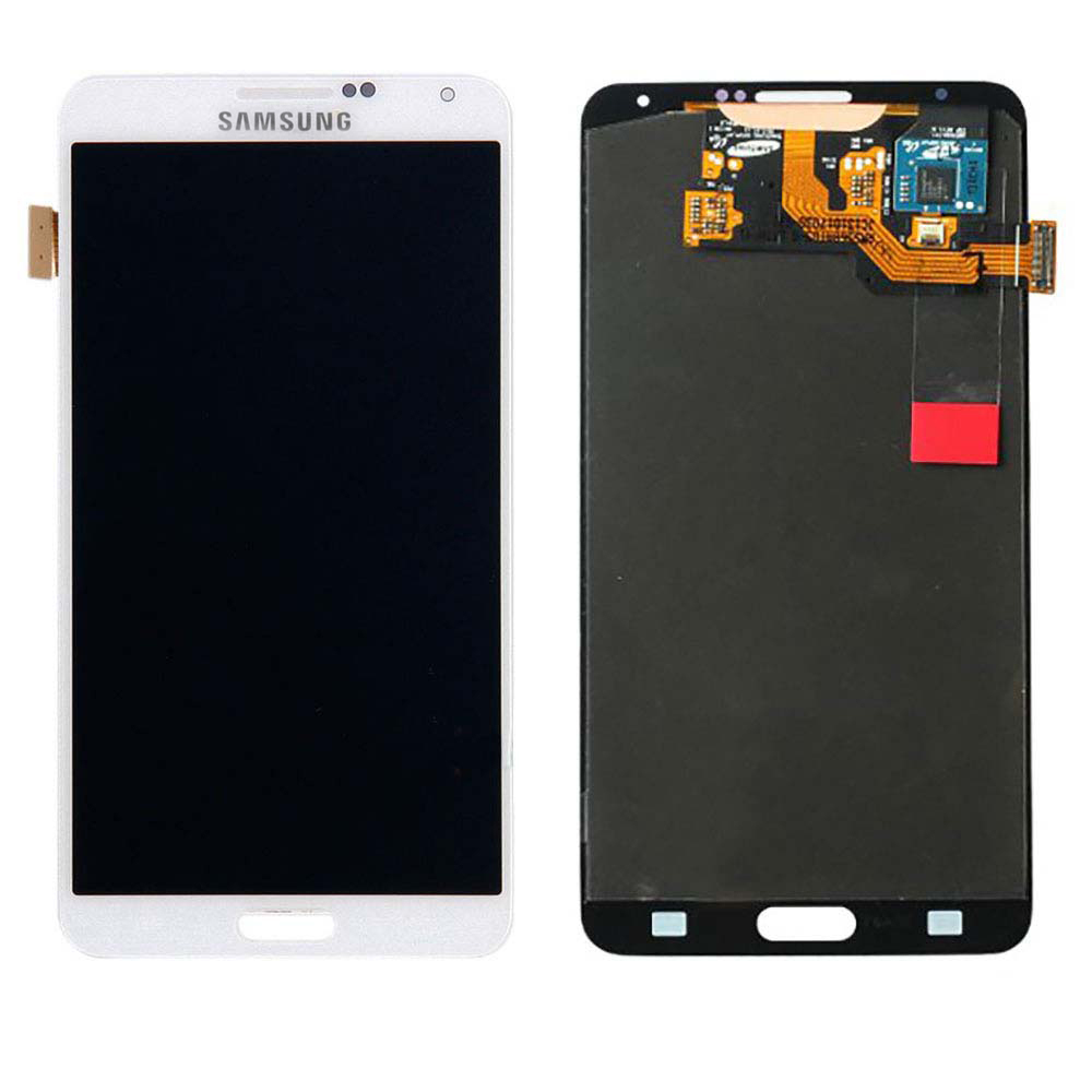 White Touch Screen Digitizer + LCD Assembly for Samsung N...