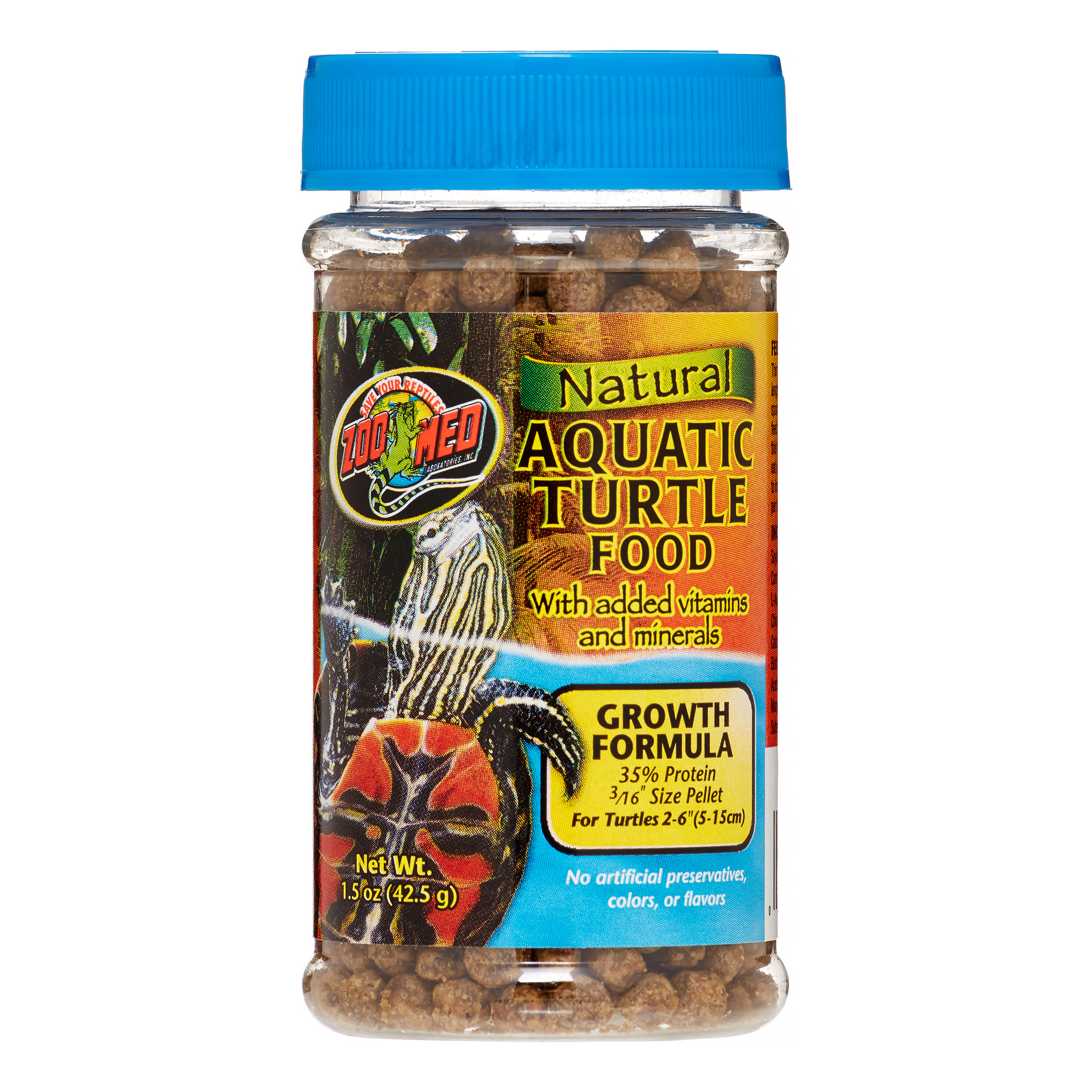 Zoo Med Natural Growth Formula Aquatic Turtle Food, 1.85 Oz by Zoo Med Laboratories Inc