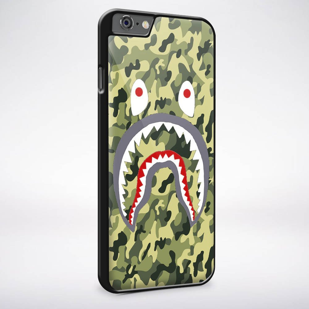 Ganma Bape Shark Army Military Texture Case For iPhone Case (Case For iPhone 6 White)